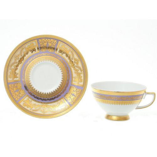 "Falken Porsellan ""Диадем Виолет Голд"" набор чайных пар 220мл 6ти штук"