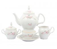 Бернадотт Роза Серая  сервиз чайный на 6 персон 15 предметов