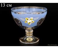 U-R Синяя Лепка ваза для варенья 13см
