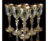 Цветной Хрусталь Аурум Изумруд набор бокалов 60 мл 6 штук