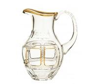 Арнштадт Классик графин 1,5л  из хрусталя, прозрачный с золотом