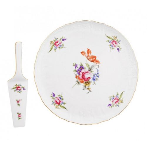 Бернадотт Полевой цветок  набор для торта 2 предмета 32см
