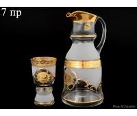 Богемия набор кувшин и 6 стаканов Королевский