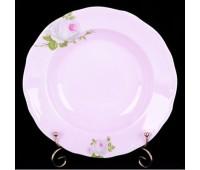"""Веймар """"Алвин Розовый"""" набор тарелок 24см глубоких 6 штук"""