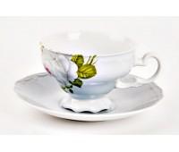 """Веймар """"Алвин Голубой"""" набор чашек с блюдцами для чая 210мл 6штук"""