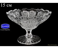 Хрусталь Снежинка Glasspo ваза для конфет 15см