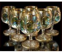 Цветной Хрусталь Аурум Изумруд набор бокалов 350 мл 6 штук