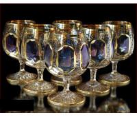Цветной Хрусталь  Топаз набор бокалов 350 мл 6 штук