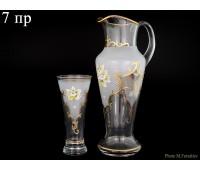 Лепка Золото кувшин со стаканами 7 предметов