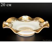 Белая Лепка E-V ваза для конфет веер 20см