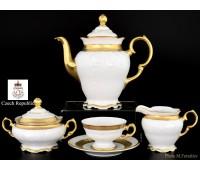 Мария Луиза Золотая Лента Матовая кофейный сервиз на 6 персон 15 предметов