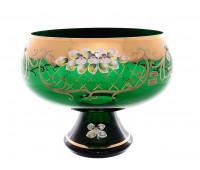 Зеленая Лепка ваза для фруктов 32 см