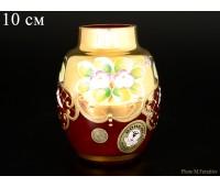 Красная Лепка ваза для цветов 10см