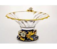 Бибироуз Пикаделли ваза для фруктов 35,5 прозрачная Кобальт