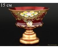 Красная Лепка E-V ваза для конфет 15см