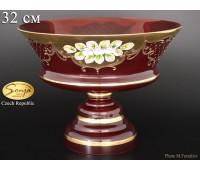 Красная Лепка ваза для фруктов 32см