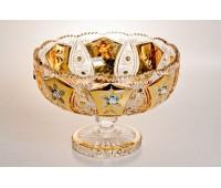Хрусталь c золотом ваза для фруктов 30,5см