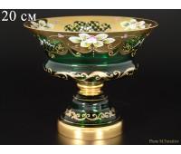 Зеленая Лепка E-V ваза для конфет 20см