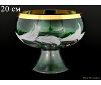 Волна Зеленая ваза для конфет 20см