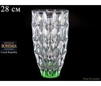 """Стекло """"Диамонд"""" ваза для цветов 28см зеленая"""