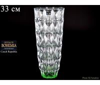 """Стекло """"Диамонд"""" ваза для цветов 33см зеленая"""