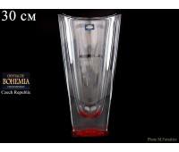 """Стекло """"Окинава"""" ваза для цветов 30см красная"""