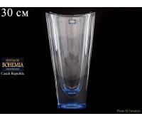 "Стекло ""Окинава"" ваза для цветов 30см синяя"