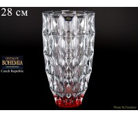 "Стекло ""Диамонд"" ваза для цветов 28см рубин"
