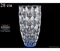 "Стекло ""Диамонд"" ваза для цветов 28см синяя"