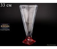 """Стекло """"Квадро"""" ваза для цветов 33см рубин"""