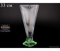 """Стекло """"Квадро"""" ваза для цветов 33см зеленая"""