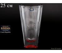"""Стекло """"Окинава"""" ваза для цветов 25см красная"""