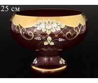 Красная Лепка ваза для фруктов 25см