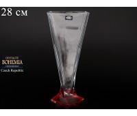"""Стекло """"Квадро"""" ваза для цветов 28см рубин"""