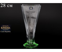 """Стекло """"Квадро"""" ваза для цветов 28см зеленая"""