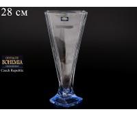 """Стекло """"Квадро"""" ваза для цветов 28см синяя"""