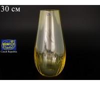 Стекло Waterfall ваза для цветов 30см медовая