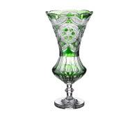 Снежинка Изумруд ваза для цветов 46см, диаметр 22см