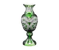 Снежинка Изумруд ваза для цветов 32см, диаметр 12см