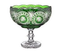 Снежинка Изумруд ваза для конфет 25см, диаметр 16см