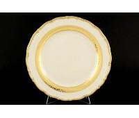АГ 857 Лента Золотая Слоновая Кость набор тарелок 25см 6 штук