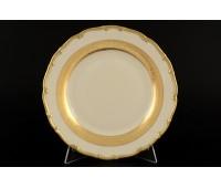 АГ 857 Лента Золотая Слоновая Кость набор тарелок 17см 6 штук