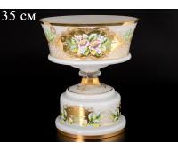 Белая Лепка E-S ваза для фруктов 35см