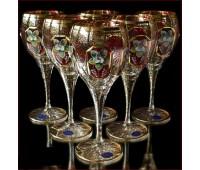 Аурум Смальта Рубин набор бокалов 340 мл 6 штук