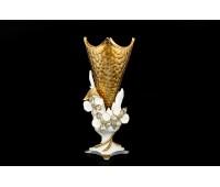 Cevik Group Золото Белые Цветы ваза для цветов высота 45см