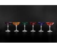 Цветной Хрусталь Клеопатра набор бокалов 200мл 6 штук