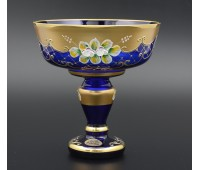 Синяя Лепка B-L ваза для конфет 17см