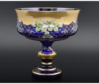 Синяя Лепка B-L  ваза для фруктов 24см