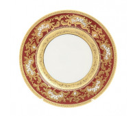 "Falken Porselan ""3D Алена Бордо Голд"" набор тарелок 17см десертных из 6ти штук"