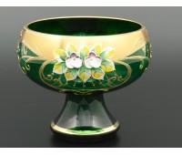 Зеленая Лепка B-P ваза для конфет 15см